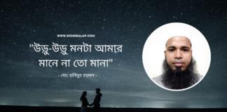 """কবি মোঃ হাবিবুর রহমান এর কবিতা """"উড়ু-উড়ু মন"""""""