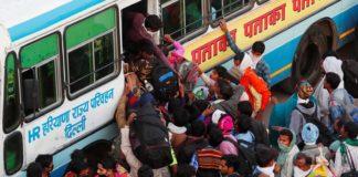 ভারতে বাসে দূরত্ববিধির বালাই নেই, বাড়ছে সংক্রমণ